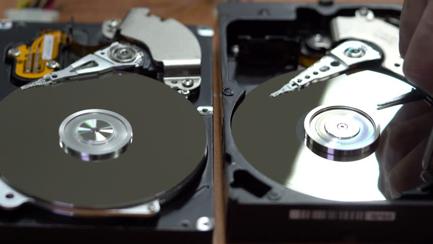 Man destroys the information from the hard drive | Shutterstock HD Video #22244113