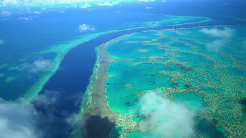 Aerial Australia Barrier Reef Queensland Coral Sea ocean Seascape Tropical travel vacation tourism holiday outdoor adventure Coral Reef summer sunshine