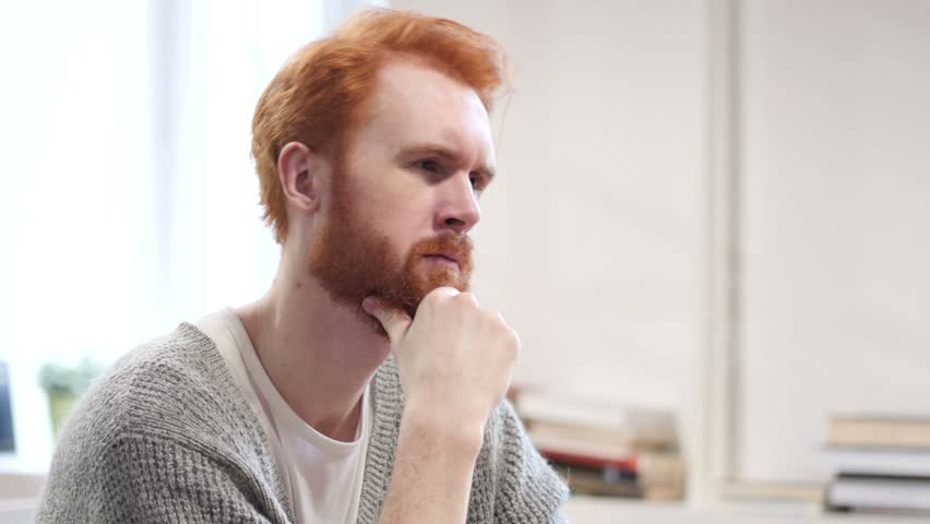Thinking Man at Work, Pensive | Shutterstock HD Video #22247062