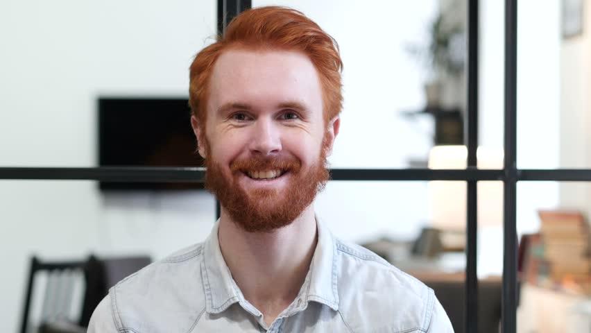 Portrait of Smiling Beard Man | Shutterstock HD Video #22247314