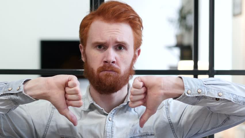 Thumbs Down by Beard Man | Shutterstock HD Video #22247410