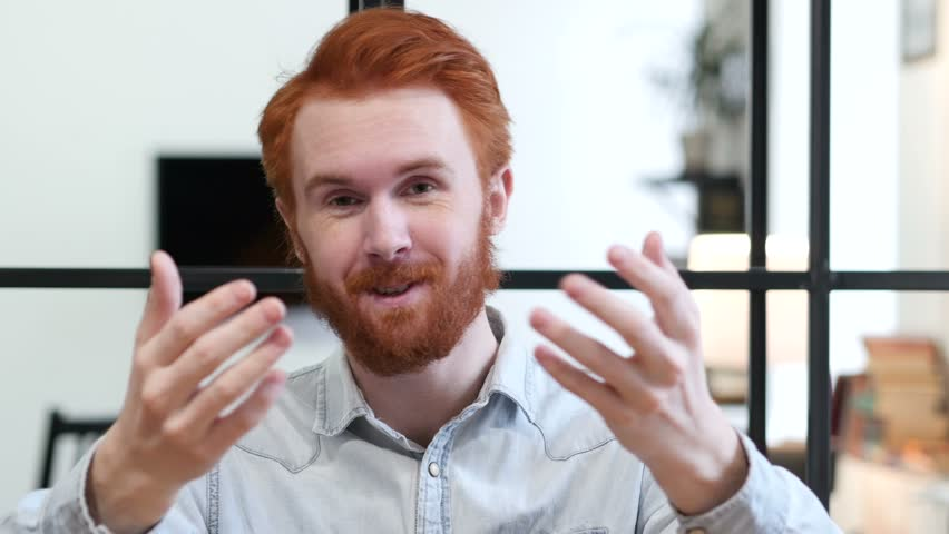 Inviting Gesture by Beard Man | Shutterstock HD Video #22247440