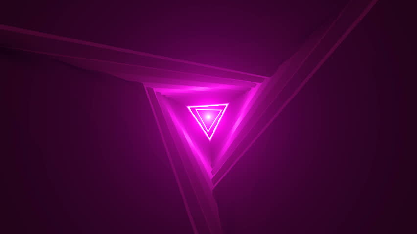 Triangle Future Space Tunnel. A Science Fiction Composition | Shutterstock HD Video #22254730