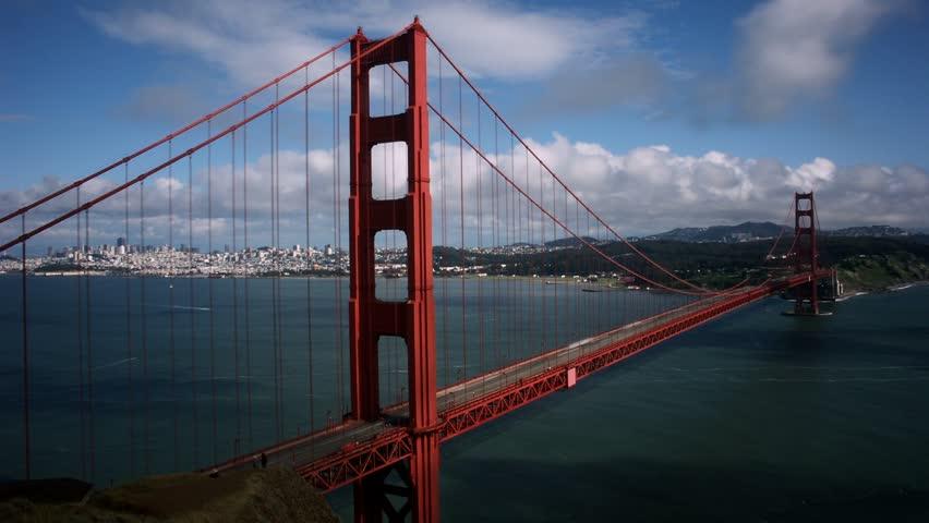 The Golden Gate Bridge in 2010.Timelapse of Golden Gate Bridge, San Francisco, California.