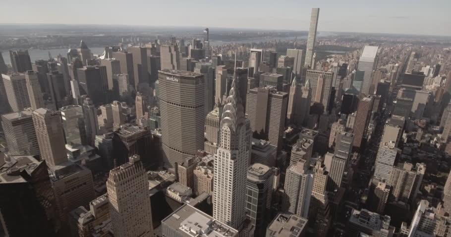 Aerial view of Manhattan skyline New York City | Shutterstock HD Video #22281037