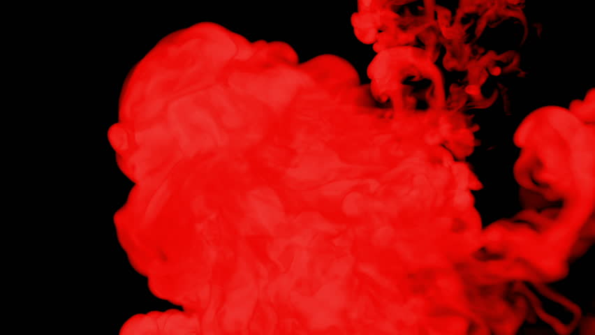 Red ink drop in water on a black background for effects. 3d render. voxel graphics. computer simulation 38 | Shutterstock HD Video #22296004
