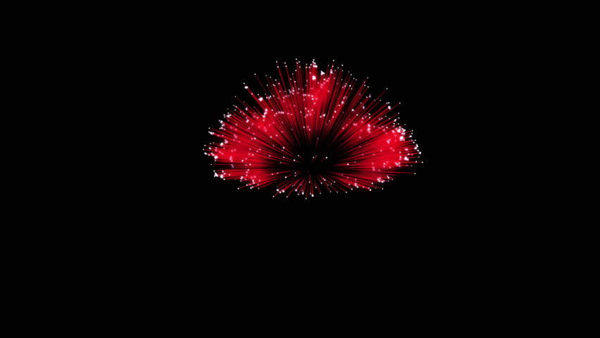 Spectacular Fireworks show, red linear fireworks, multiple lines Full HD Ver. 6 | Shutterstock HD Video #22319212
