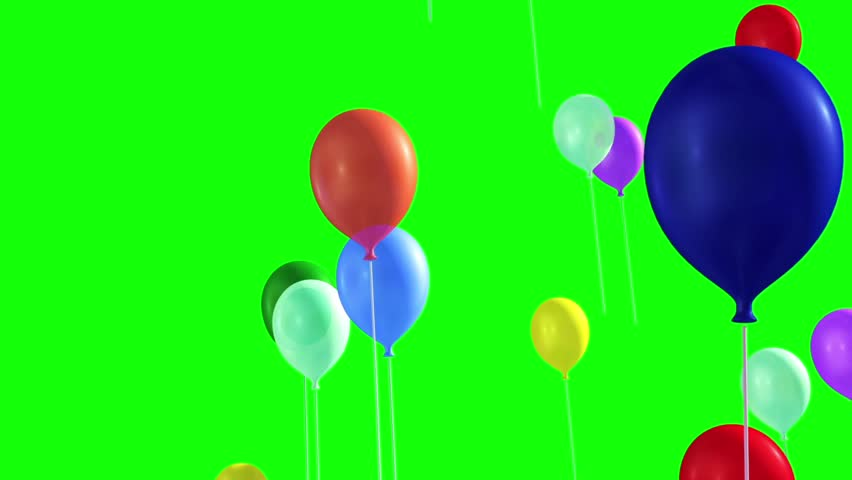 Many Balloons Flying in the Sky Green Screen | Shutterstock HD Video #22364947