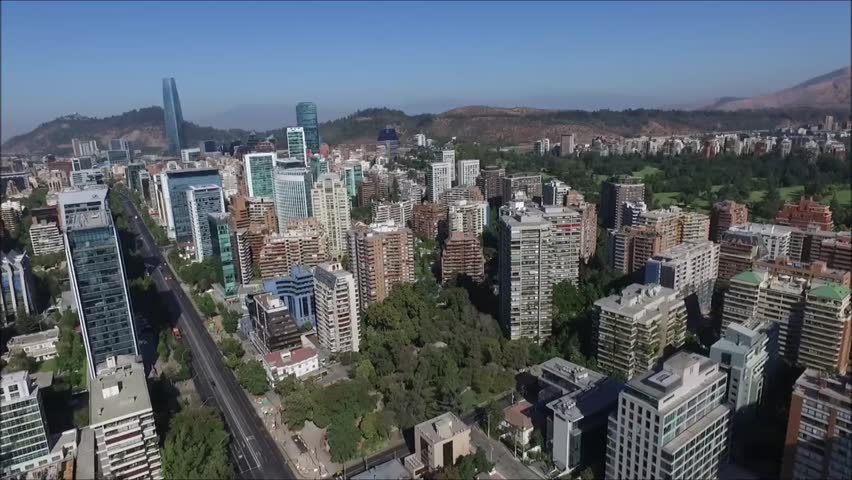 Aerial view of city in Santiago Chile   Shutterstock HD Video #22374682