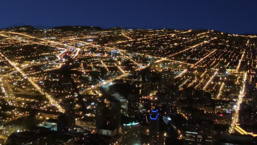 A rolling blackout takes down the grid in a major city Royalty-Free Stock Footage #22381687