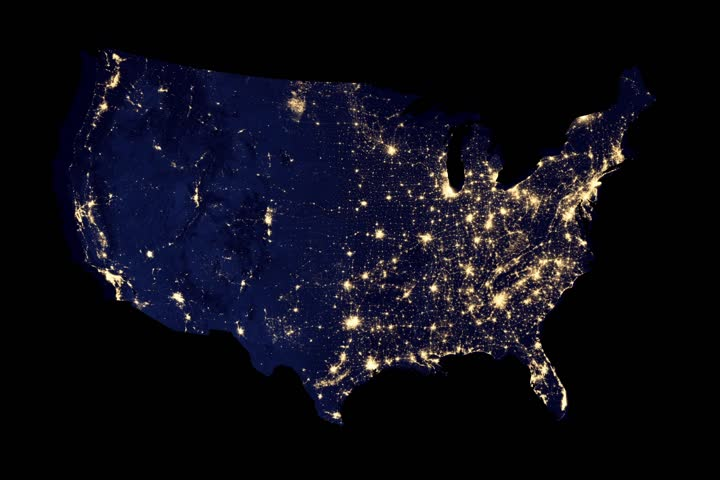 The US energy grid blacking out Royalty-Free Stock Footage #22381705