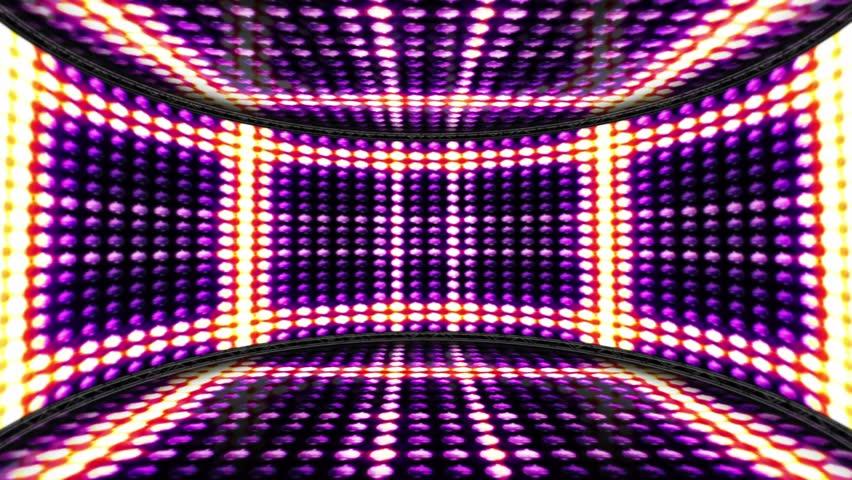 Squares Bulbs Lights Room Background, Rendering, Animation, Loop, 4k  | Shutterstock HD Video #22382977