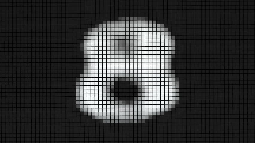 Black and white digital cubic countdown. Animation of changing numbers on surface made of big cubes. | Shutterstock HD Video #22388179