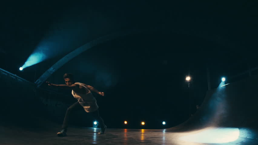 Acrobatic Dance Choreography Performance Free Runner Parkour Back Flip Slow Motion