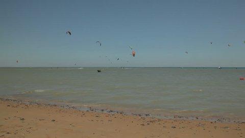 kite surfer near the beach