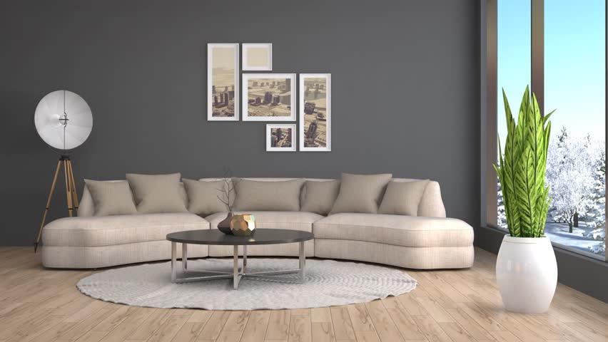 Interior with sofa. 3d illustration   Shutterstock HD Video #22410859