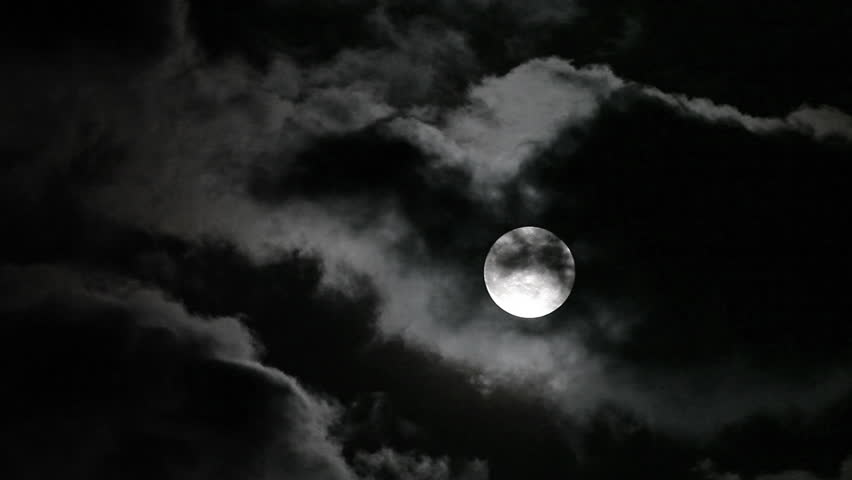 Clouds moving on moon, details on surface visible   Shutterstock HD Video #2242192