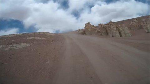 Desert Road in Atacama desert Chile