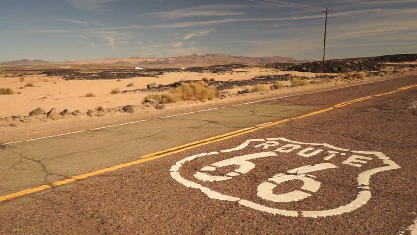 Rural Route 66 Two Lane Historic Highway Cracked Asphalt | Shutterstock HD Video #22436692