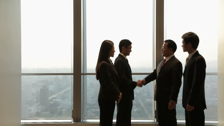 Ds Ms Business People Shaking Stock Footage Video (100% Royalty-free) 22501945 | Shutterstock
