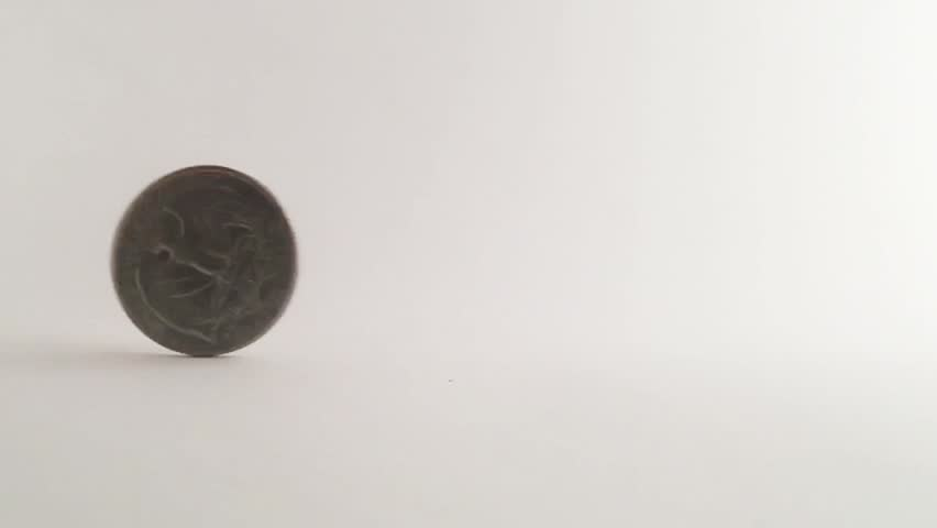 Slow motion coins on whie background | Shutterstock HD Video #22523074