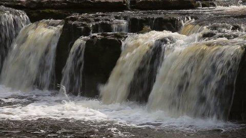 Aysgarth Water Falls; Aysgarth Falls North Yorkshire England