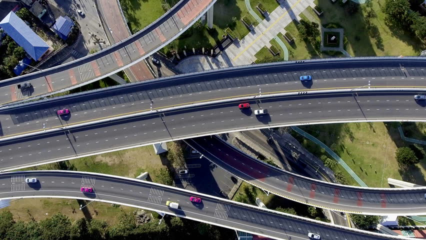 Aerial view of bangkok busy highway taken in afternoon, useful for engineering, industrial, transportation concept   Shutterstock HD Video #22546228