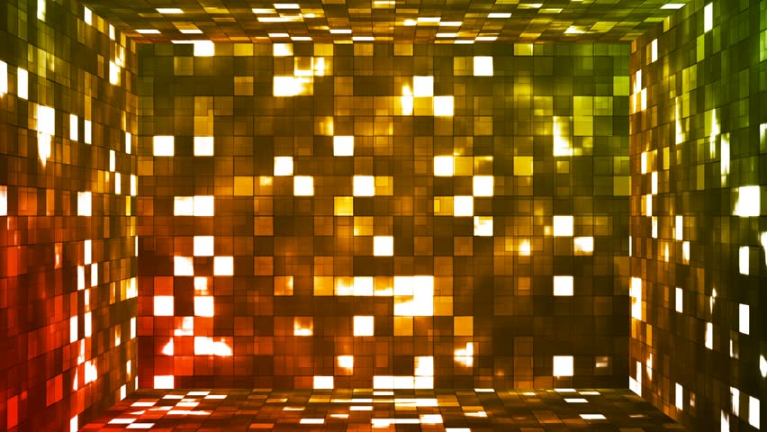 Broadcast Firey Light Hi-Tech Squares Room, Red Orange Green, Abstract, Loopable, 4K #22558564