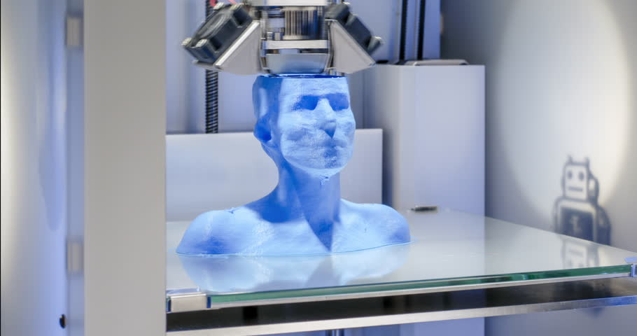 3D printer working, Time Lapse of 3 D printer, printing a female bust with blue filament. This clip is part of a series of 2 which can easily be edited into a sequence.  | Shutterstock HD Video #22561936