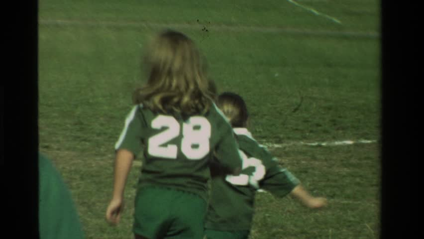 CALIFORNIA 1981: a girls soccer club competitively playing on neighborhood turf circa 1970.