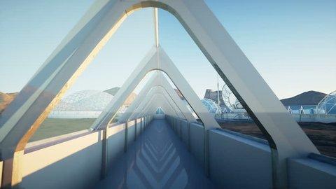 Mars architecture. Mars base, colony. Life on Mars.