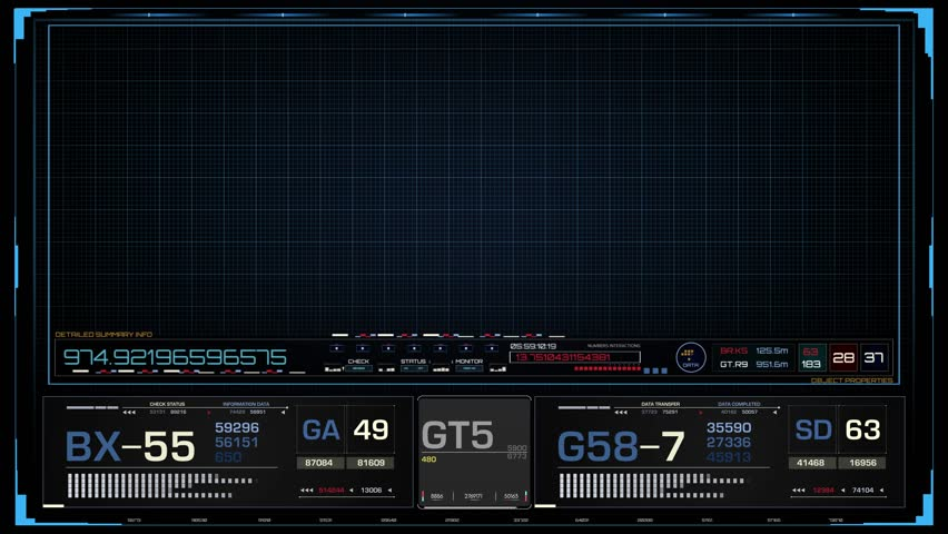 Sci-Fi Futuristic Concept HUD Frame  3840 x 2160  HUD User interface Royalty-Free Stock Footage #22693189