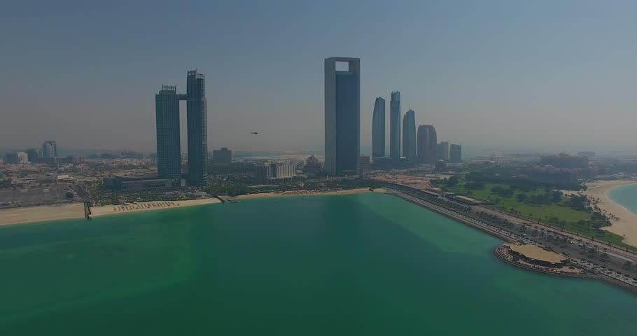 Abu Dhabi from Lulu Island