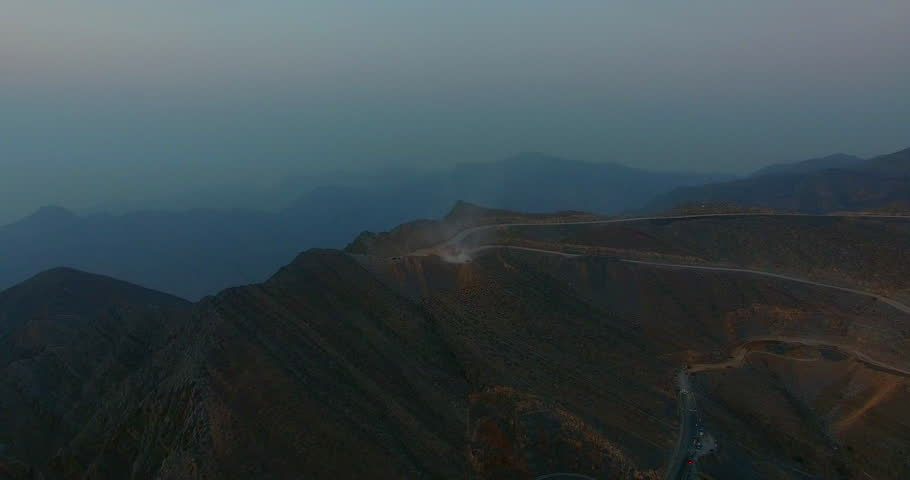 At the top of Jabal al Jais Mountains by drone