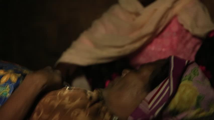 RAKHINE STATE, MYANMAR - NOVEMBER 05 : Hundreds of Muslim Rohingya are suffering severe malnutrition in overcrowded camps in Myanmar's Rakhine state, on NOVEMBER, 2015 in Sittwe, Myanmar.   Shutterstock HD Video #22728355