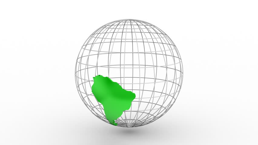 Creating a Rotating Globe. White background, 2 in 1, loop (301-600 frames), created in 4K, alpha matte, 3d animation | Shutterstock HD Video #22738288