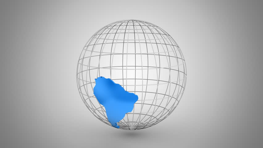 Creating a Rotating Globe. Gray background, 2 in 1, loop (301-600 frames), created in 4K, alpha matte, 3d animation | Shutterstock HD Video #22738291