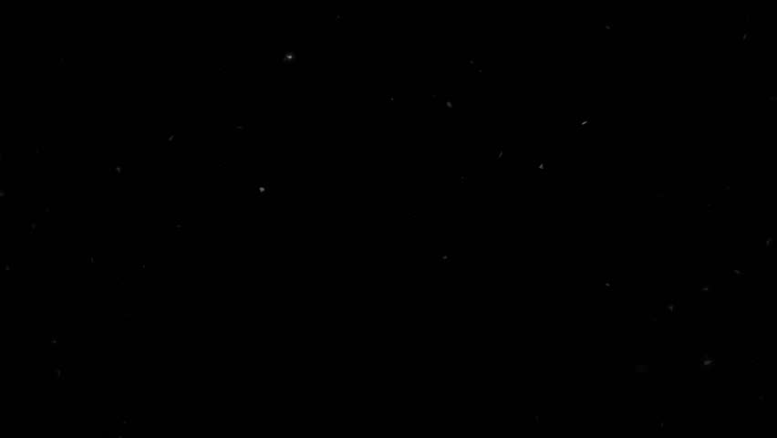 High quality motion animation representing snow falling, animated on a black background. | Shutterstock HD Video #22746169