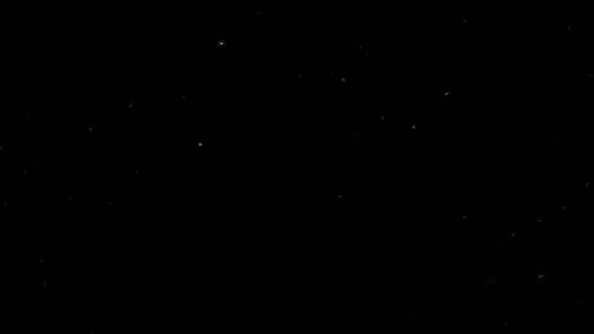 High quality motion animation representing snow falling, animated on a black background. | Shutterstock HD Video #22746187