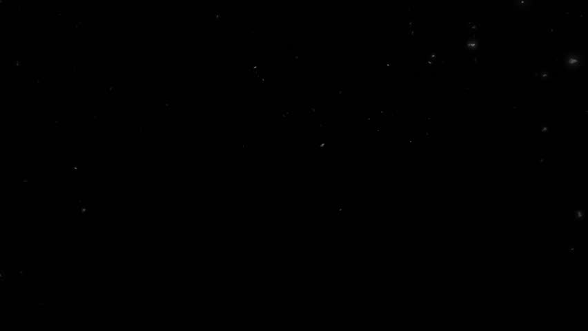 High quality motion animation representing snow falling, animated on a black background. | Shutterstock HD Video #22746286