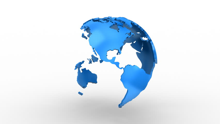 Creating a Rotating Globe. White background, 2 in 1, loop (301-600 frames), created in 4K, alpha matte, 3d animation   Shutterstock HD Video #22749625