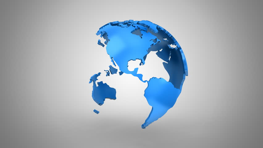 Creating a Rotating Globe. Gray background, 2 in 1, loop (301-600 frames), created in 4K, alpha matte, 3d animation   Shutterstock HD Video #22749628