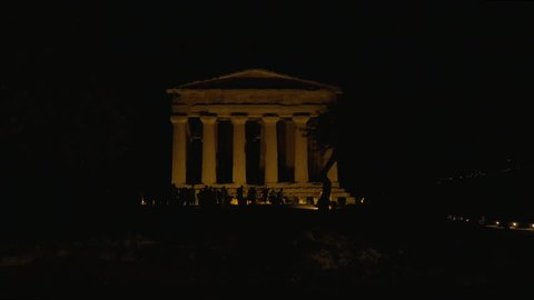 Ancient Greek temple of Concordia (V century BC), Valley of the Temples near Agrigento, Sicily (Italy). The area was included in the UNESCO Heritage Site list.