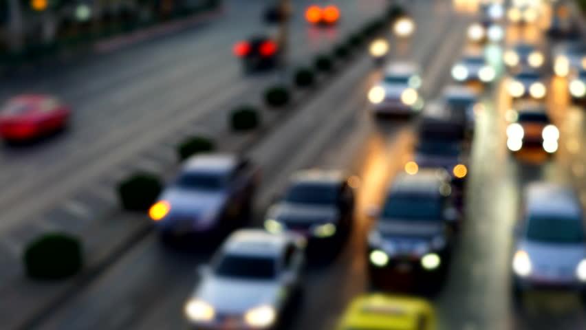 Time lapse - Traffic in Bangkok street - Zoom Effect | Shutterstock HD Video #22791283