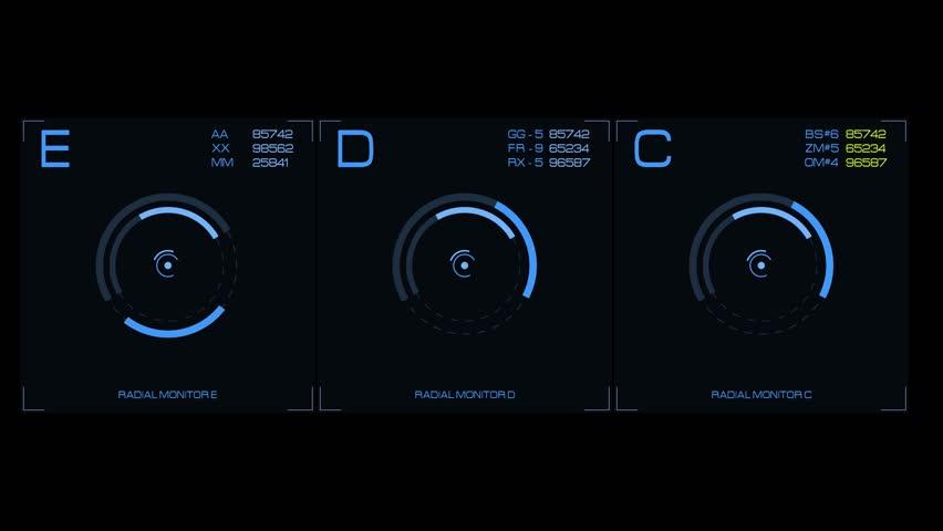 HUD UI Animation. Futuristic widgets HUD | 4K | 3840 x 2160 | | Shutterstock HD Video #22799380