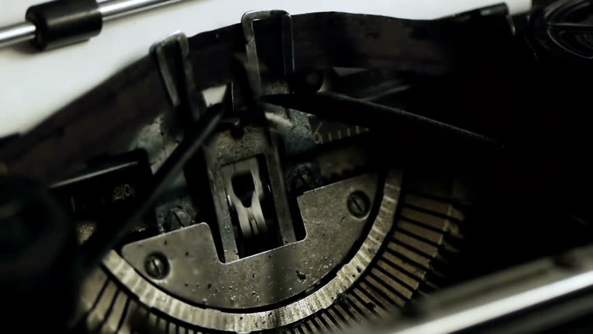 Once Upon A Time Typed Side (HD). Once Upon A Time being typed on Vintage 1940s typewriter seen from an angle with shallow depth of field. Ambient audio Included.