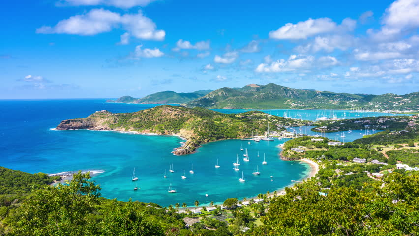 Antigua and Barbuda Caribbean view from Shirley Heights.
