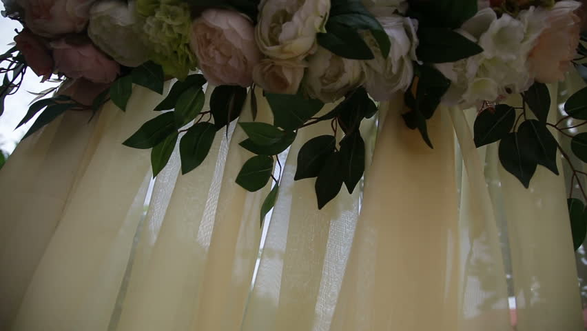 Wedding arch decorated with flowers | Shutterstock HD Video #22861054