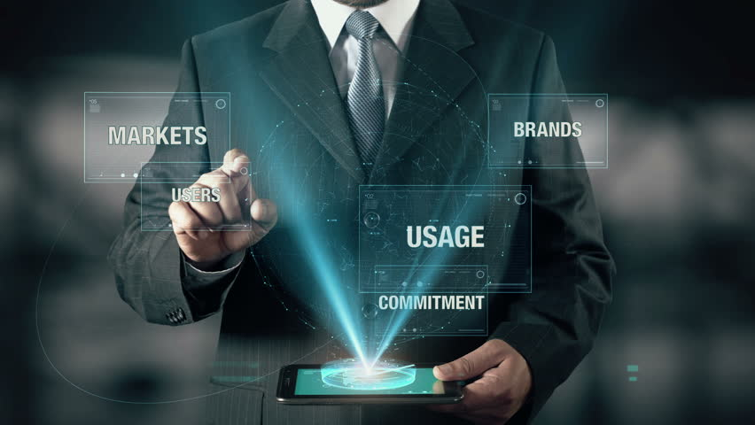 Businessman with Brand Loyalty concept choose Users from Commitment Markets Brands Usage using digital tablet | Shutterstock HD Video #22885474