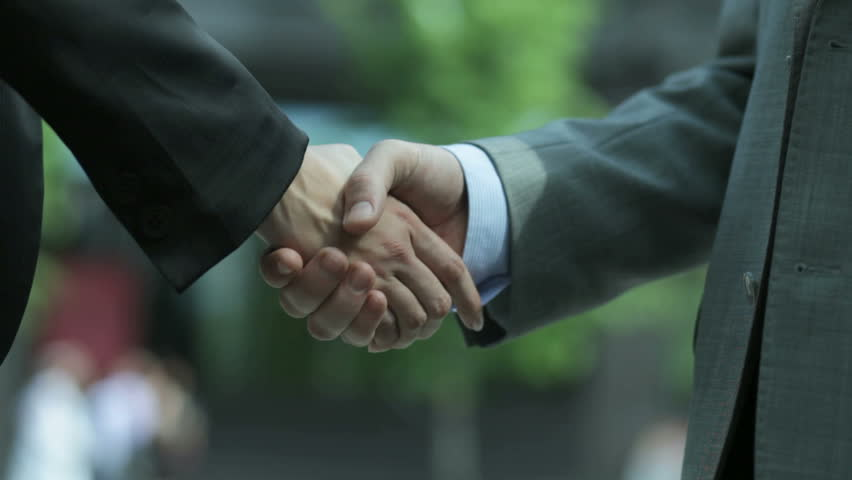 Close-up of two business people shaking hands to conclude the deal #2288870